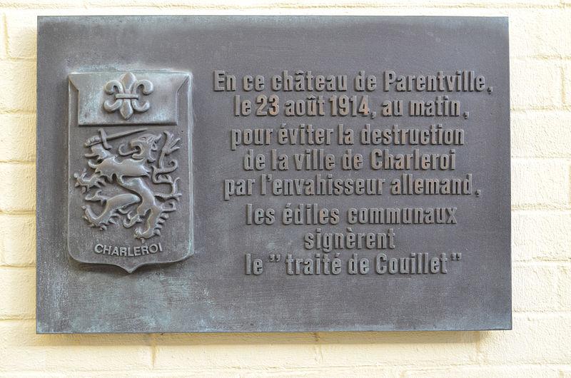Plaquette Verdrag van Couillet