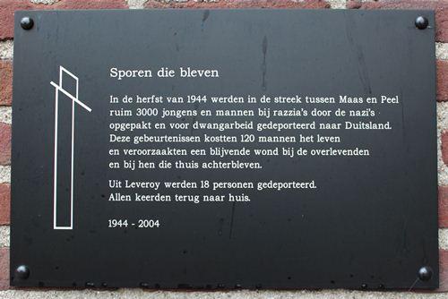 Monument 'Sporen die bleven' Leveroy