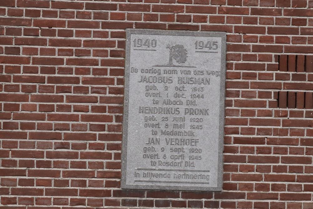 Commemoration Plaque Benningbroek
