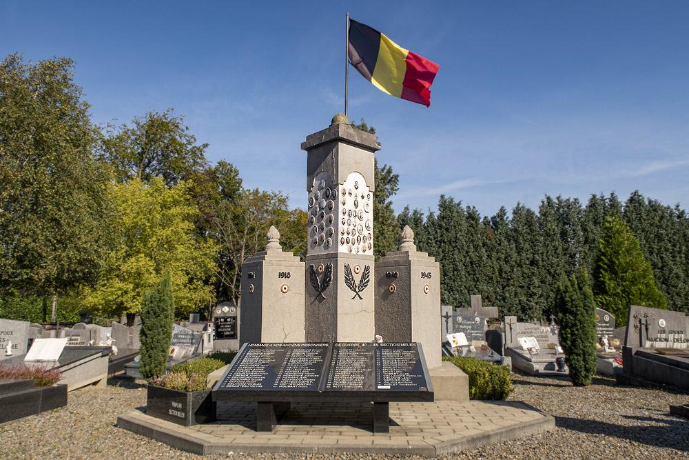 Oorlogsmonument Gemeentelijke Begraafplaats Mélen