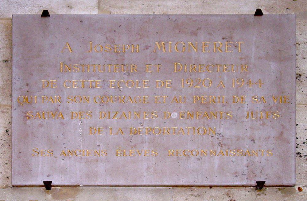 Plaquette Joseph Migneret