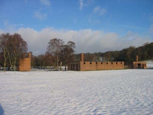 Remains POW-camp Featherstone Castle