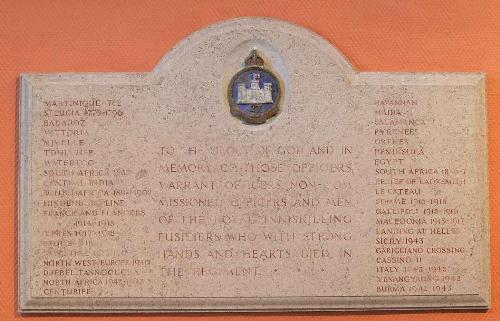 Monument Inniskilling Fusiliers St Macartin Cathedral