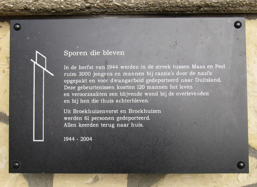 Monument 'Sporen die bleven' Broekhuizen en Broekhuizenvorst