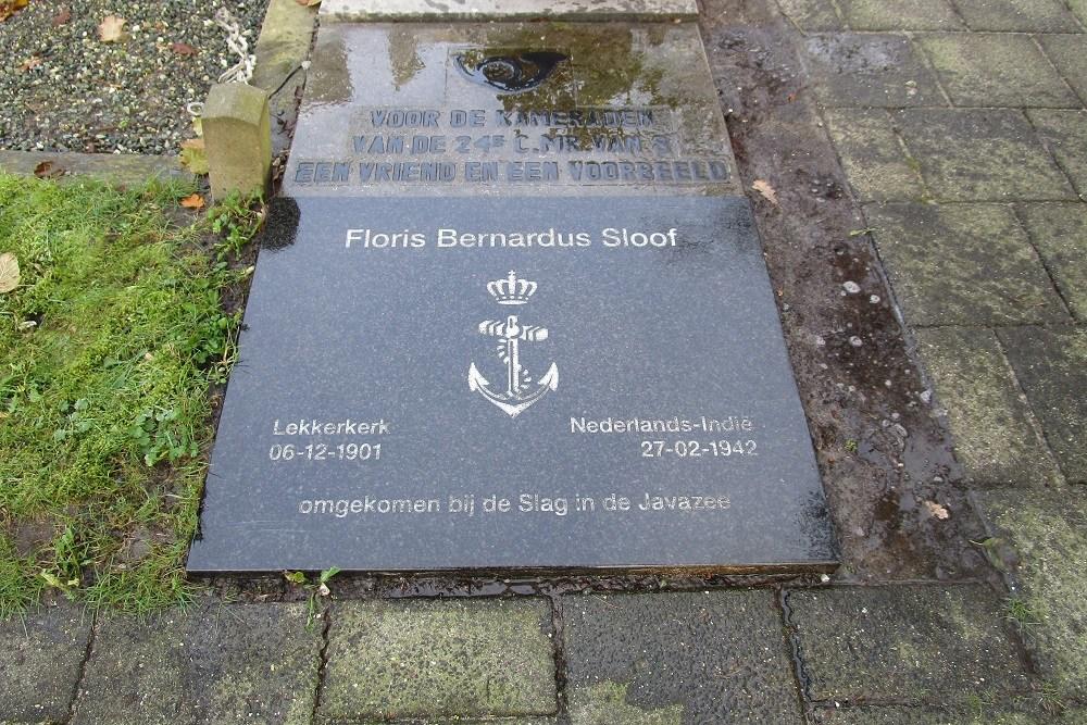 Herdenkingssteen Floris Bernardus Sloof