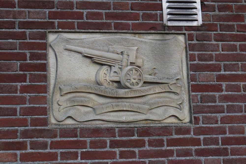 Plaquette Mobilisatie Nederlands Leger Nistelrode
