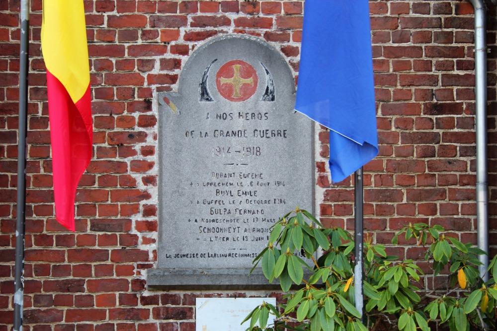 Commemoratives Plates War Victims Marcq-Labliau