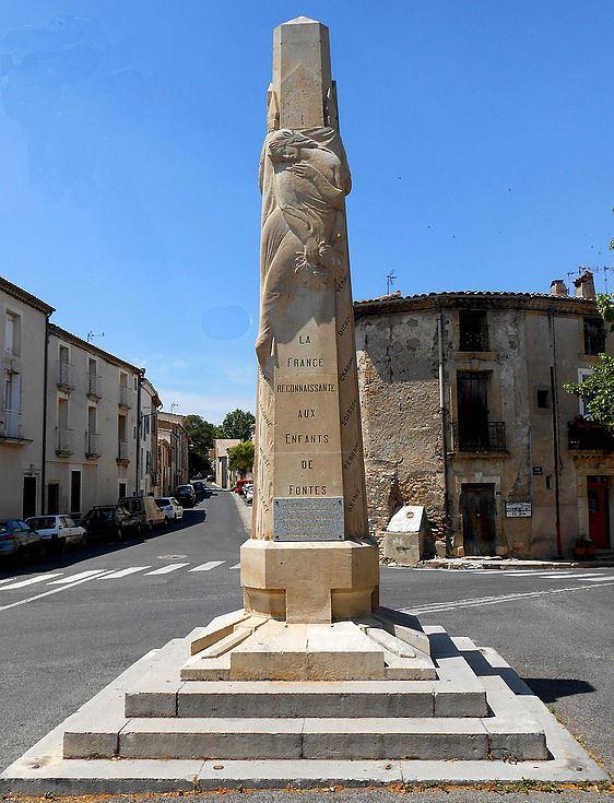 Oorlogsmonument Fontès