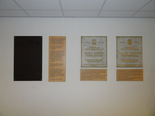 Plaques Lijklema, Wagenaar and Tax Staff