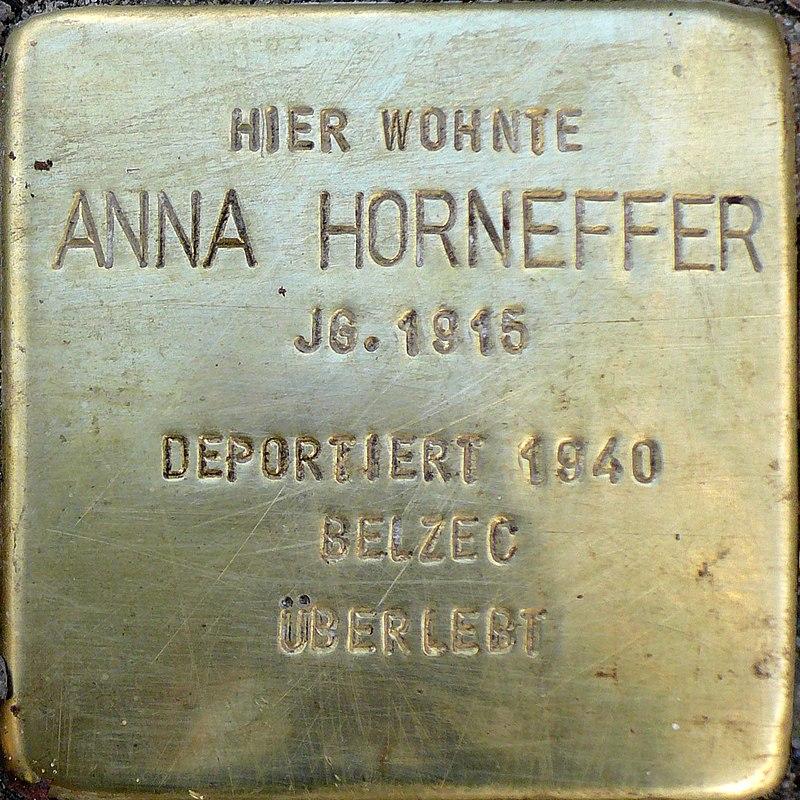 Stolpersteine Artilleriestraße 66a