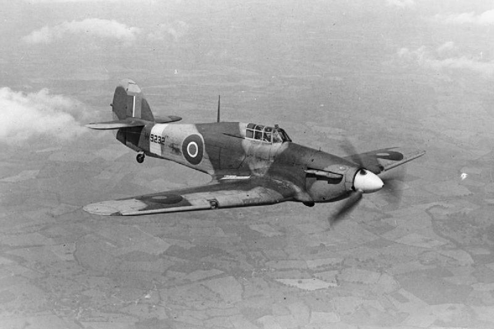 Crashlocatie Hawker Hurricane Mk I P2701 VY
