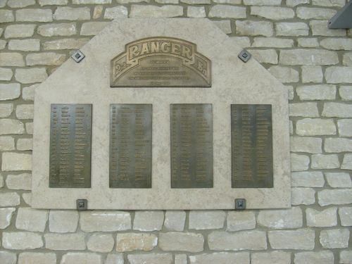 Plaque Killed Rangers Pointe du Hoc