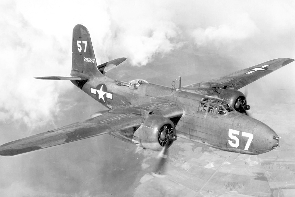 Crashlocatie A-20G-30-DO Havoc 43-9629 Tail E