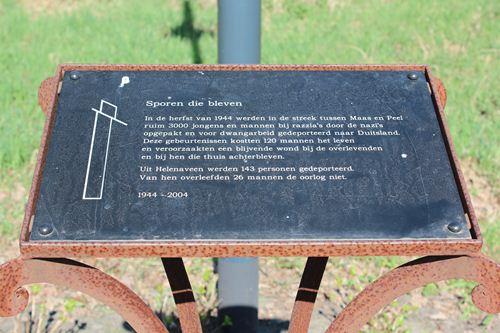 Memorial 'Tracks that were' Helenaveen