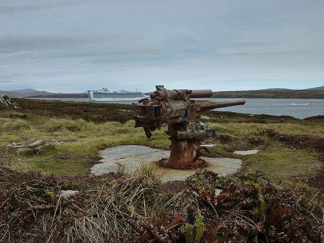 Vickers-geschut Port Stanley