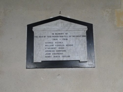 War Memorial Willisham Church