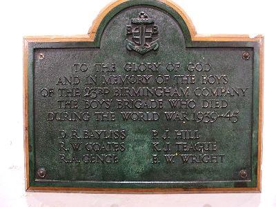 Memorial Fallen 23rd Birmingham Company