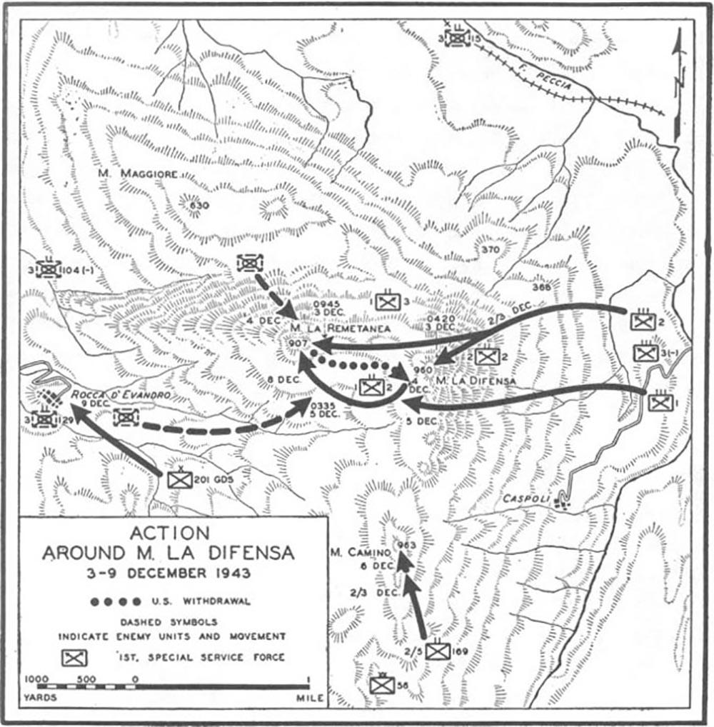 Bernhardtlinie - Monte La Difensa (Hill 960)