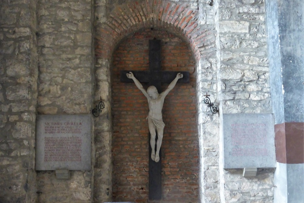 Memorial stones St. Jacques Church Tournai