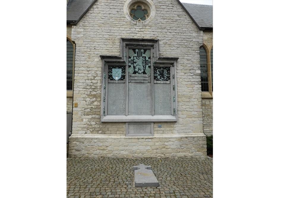 Gedenkplaat St.Petruskerk Bazel