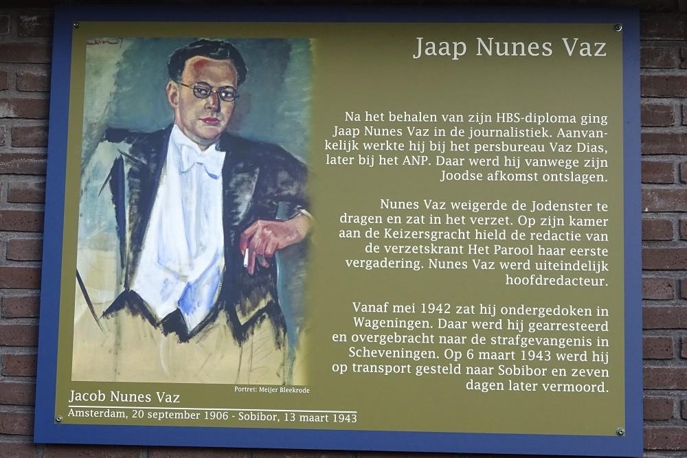 Memorial Plates Slotermeer Jaap Nunes Vazstraat