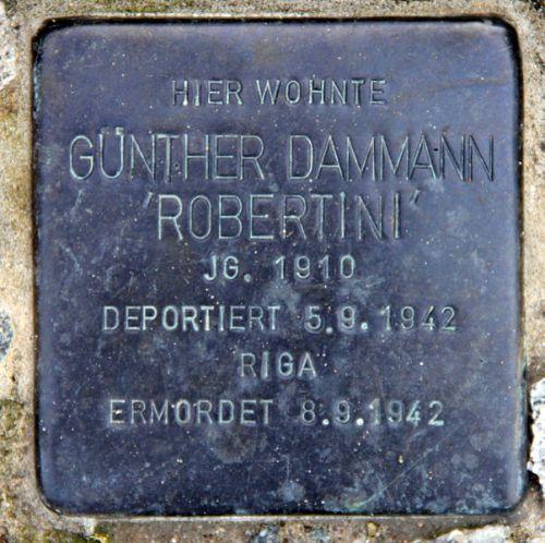 Stolperstein Wissmannstraße 17