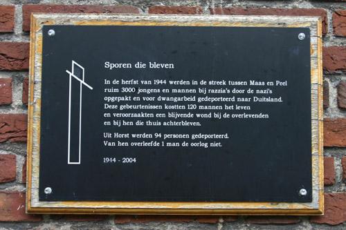 Monument 'Sporen die bleven' Horst