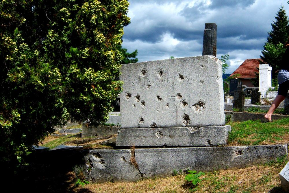 Bullet and Mortar Shells Impacts Old Jewish Cemetery