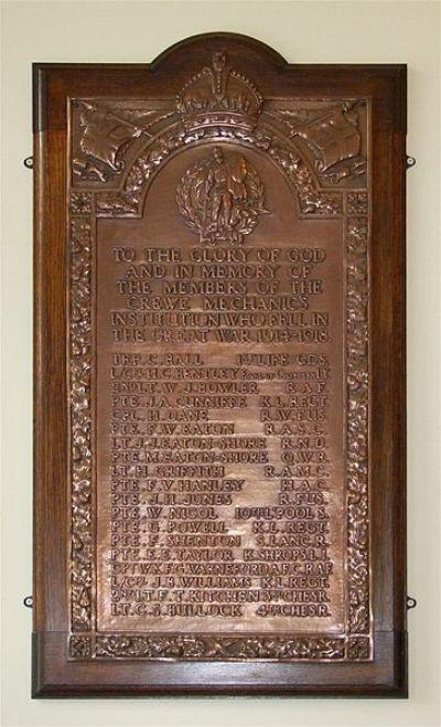 War Memorial Crewe Mechanic's Institution