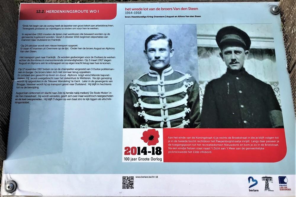 Herdenkingsroute 100 jaar Groote Oorlog - Informatiebord 12