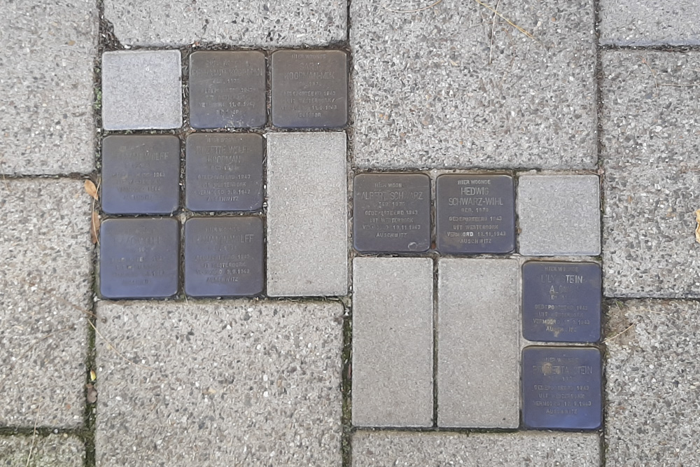 Stumbling Stones Landweringstraat 4 (now Landweringstr. 15)