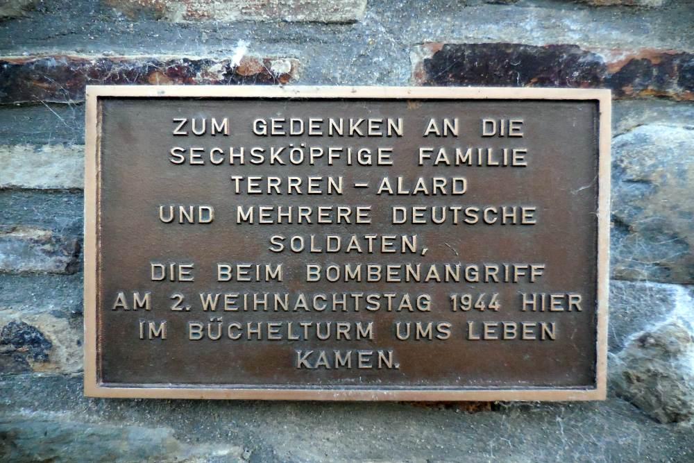 Plaque Büchel Tower