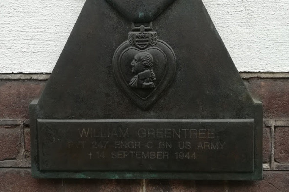 Plaquette Amerikaanse Soldaat William Greentree