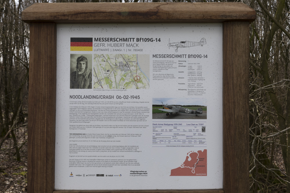 Crash Site Messerschmitt Bf 109G-14 780400