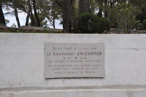 Plaque Lieutenant J.M. Chipier