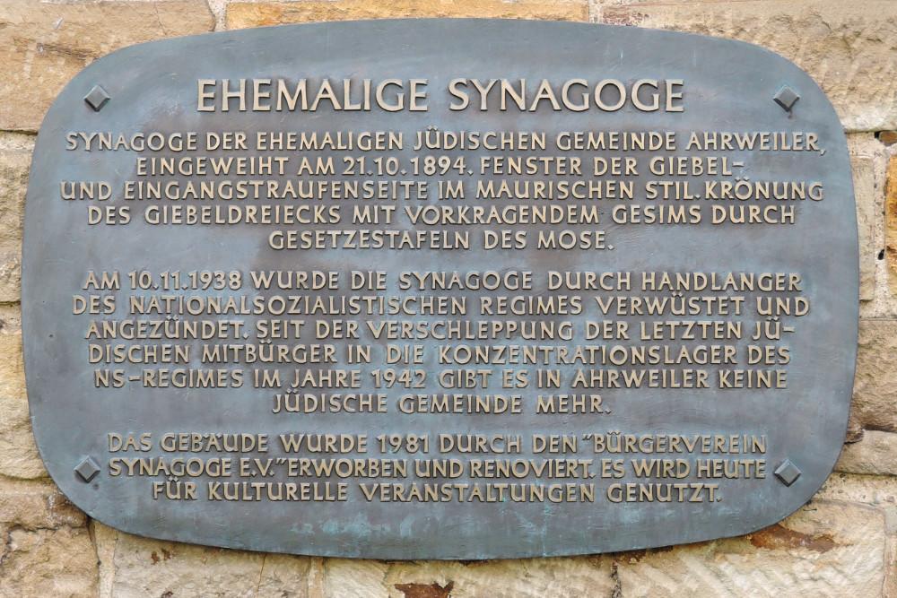 Monument Synagoge Ahrweiler