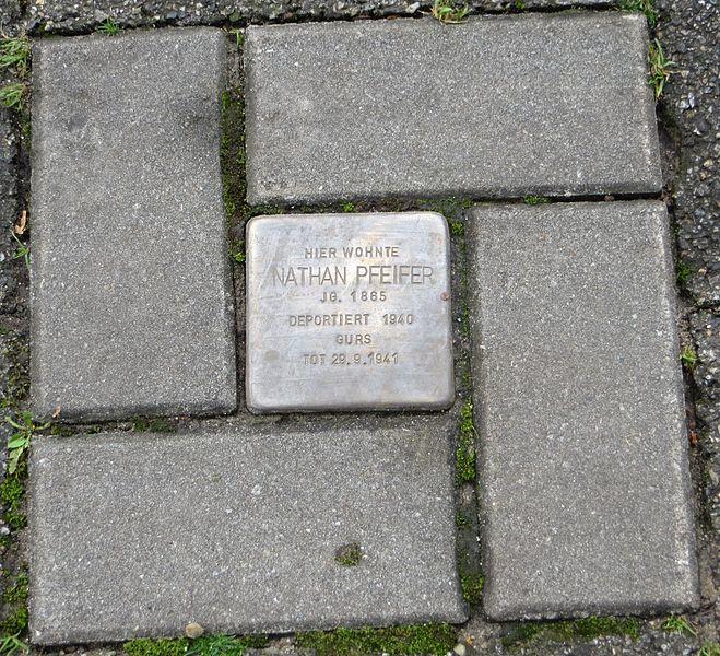 Stumbling Stone Bertholdstraße 8
