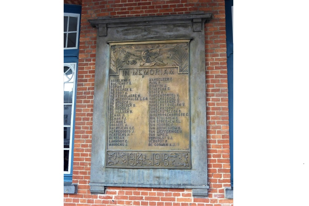 Memorial Plaque Victims Railways Aalst