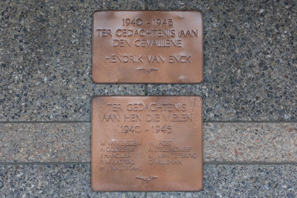 Plaquettes Killed Railway N.S. Employees Zutphen