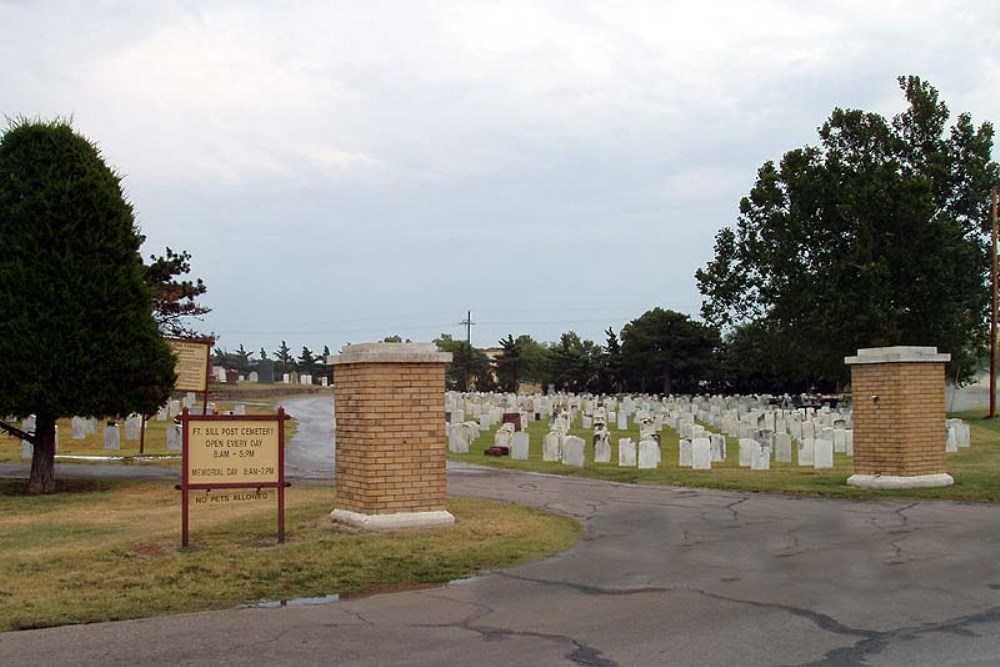 Graves War Veterans Fort Sill Post Cemetery