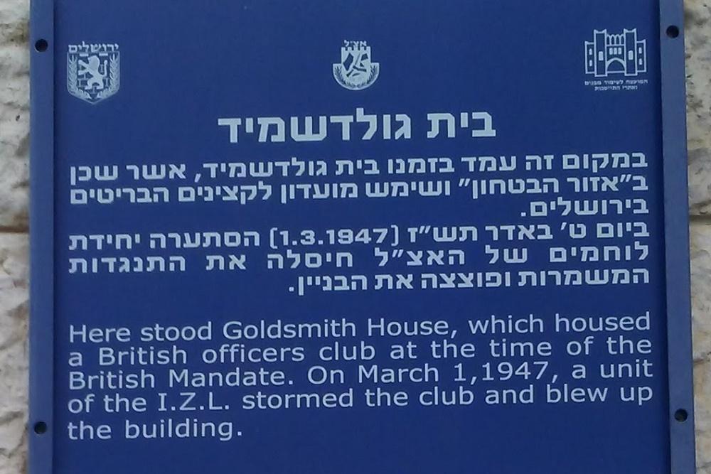Goldsmith House - Britse Officiersclub