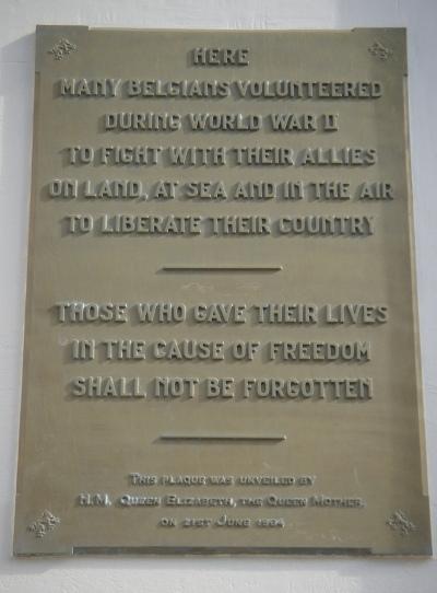 Plaque Belgian Volunteers