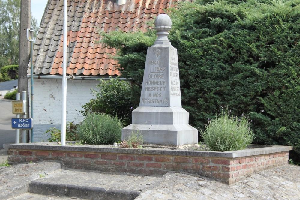 Monument Verzet Vaux-et-Borset