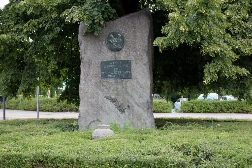 Monument Weggevoerden en Werkweigeraars Halle