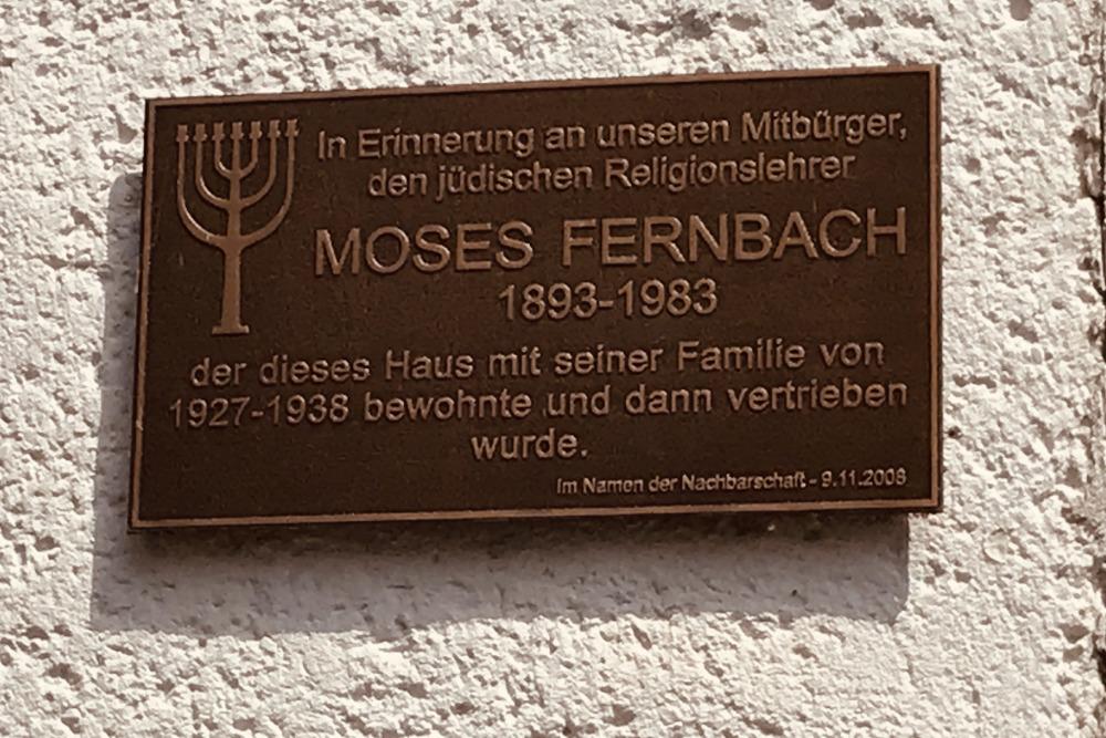 Plaquette Moses Fernbach