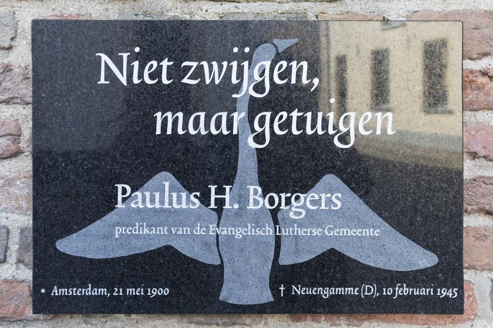 Plaquette Paulus H. Borgers