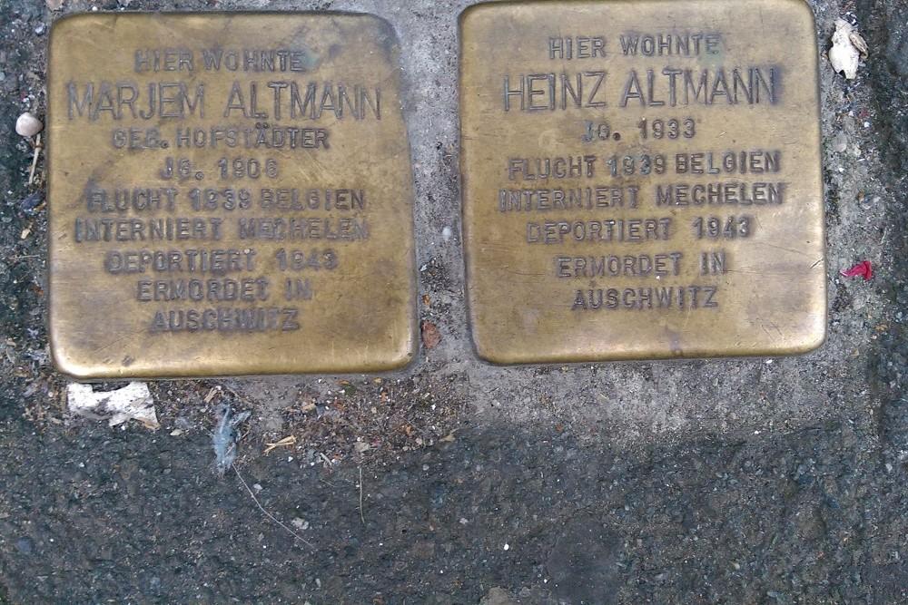 Stumbling Stones Helenenstraße 31
