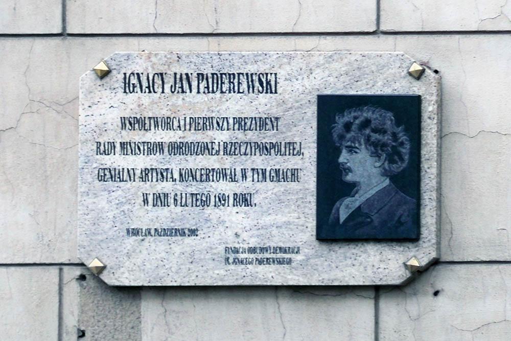 Ignacy Paderewski Plaque