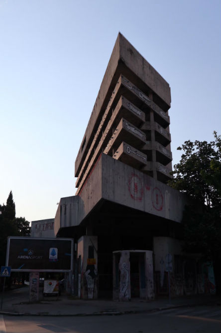 Destroyed Bank Office Sniper Tower Mostar