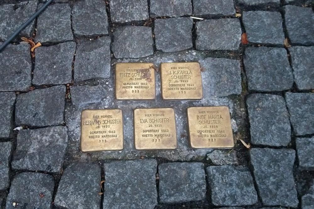 Stumbling Stones Bürgermeisterstraße 4 (previously no. 7)